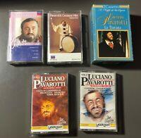 Lot of 6 Luciano Pavarotti Audio Cassette Tapes Laser Light