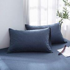 LIFETOWN 100% Jersey Cotton Pillowcases, Queen Pillowcase Piece of 2, Super Soft