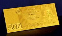 """★★ ALLEMAGNE / GERMANY / RDA / DDR : BILLET POLYMER  """" OR """" DU 500 MARKS 1985 ★★"""