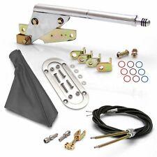 Floor Mount Emergency Parking Brake Gray Boot, Chrome Ring and Cable Kit custom