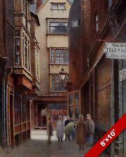 NEW COURT CLOTH FAIR LONDON CITY OLD ENGLAND ART CANVAS PAINTING PRINT