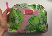 LILLY PULITZER for ESTEE LAUDER Pink Floral Cosmetic Makeup Travel Bag Case