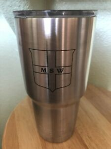 Yeti 32 oz Silver Rambler Tumbler with Clean Lid stainless steel Advertising
