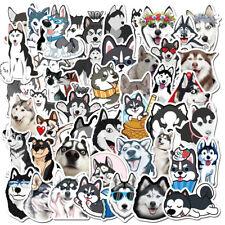 50Pcs Siberian Husky Vinyl Stickers Pet Dog Decals for Laptop Luggage Graffiti