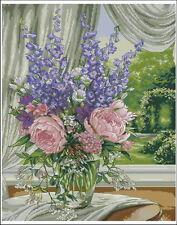 """2.000 SCHEMI PUNTO CROCE """"ROSE, FIORI E PIANTE """" flowers cross stitch patterns"""