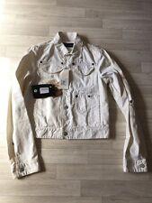 DSQUARED2 Jacket Vintage Aged Distressed DENIM JACKET NEW SIZE IT48 white