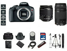 Canon EOS Rebel T7 24.1MP DSLR Camera with EF-S 18-55 and 75-300mm Lens