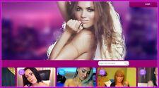 Live adulte Webcam site web Business | gagner beaucoup d'argent | libre Domaine | hébergement | trafic