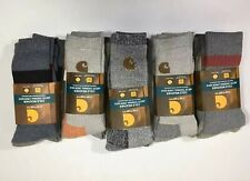 Carhartt Men's 2-Pairs Cold Weather Arctic Thermal Crew Sock - grey - size L
