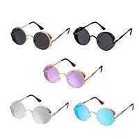 Steampunk Retro Cyber Round Sunglasses Glasses Goth Copper Vintage Rave Goggles