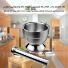 Stainless Steel Grinding Manual Device Seasoning Pepper Ginger Mortar Pestle AZ