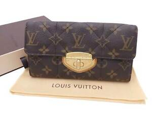 Louis Vuitton Monogram Etoile Quilted Sarah Long Bifold Wallet Brown - e47159a