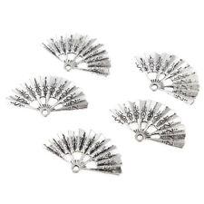 10pcs Folding Fan Beads Tibetan Silver Charms Pendant DIY Jewelry Making 35*21mm
