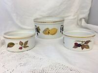 3 X  Royal Worcester Evesham Serving Dishes / Vegetable Bowls