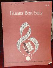 Banana Boat Song, Instrumental Sheet Music for the Organ