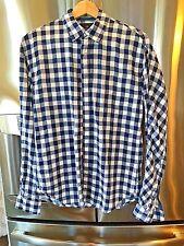 Scotch and Soda Men's button down checked cotton long sleeve shirt