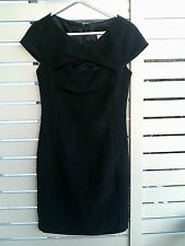 VERONIKA VERONICA MAINE DRESS WITH SIZE SZ 6 8 BLACK NEW PRINT SHIFT CORPORATE