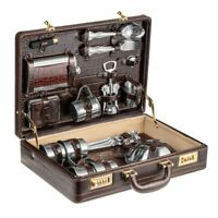 5 Persons Picnic Set Gift Set Hand-Made Leather Case