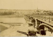 France, Saint-Cloud Le pont  Vintage albumen Print Tirage albuminé  11x16