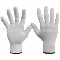 12 Pairs Warrior 0111UPW Uncoated Polyester Work Safety Gloves Light Handling