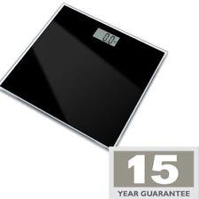 ELECTRONIC BLACK GLASS BATHROOM SCALES DIGITAL LCD DISPLAY 15YR WARRANTY