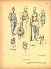 Uniforms Austria Hungary Army Armée d'Autriche Hongrie Bosnia Fouqueray 1914 WWI