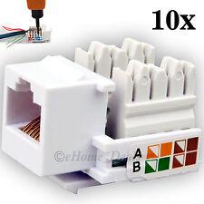 10x Pack RJ45 Cat5e Network LAN Keystone Cable Wall Jack Clip Module Socket Plug
