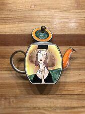 Kelvin Chen Miniature Teapot- Lady with Hat by Modigliani