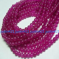 Natural 4/6/8/10mm Rose Red Alexandrite Gemstone Round Loose Beads 15'' AAA