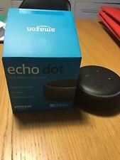 Amazon Echo Dot 3rd Generation - Black Fabric -Unboxed  Never Used