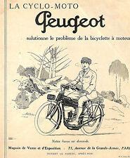 CYCLES MOTOS PEUGEOT PUBLICITE 1924