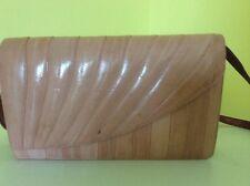 Genuine Leather Eel Skin Pink Clutch Bag