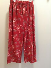 Red with football design Old Navy boys fleece pj bottoms size L