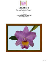 ORCHID 2 - cross stitch chart