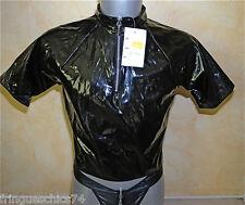 t-shirt zippé vynil latex fétiche homme PATRICE CATANZARO T2 (S) NEUF ÉTIQUETTE