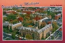 University of Michigan, Cook Law Quadrangle, Ann Arbor, MI, Aerial --- Postcard