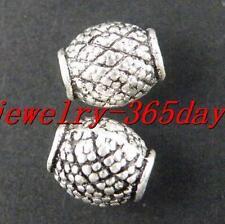 80pcs Tibetan Silver Nice Barrel Spacer Beads 8x7mm 9302