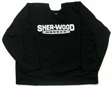 New Sherwood Pro 58 fight strap made Canada hockey player jersey black mens sr