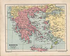 Carte de 1934 ~ ~ Grèce Crète Morée Cyclades