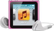 Apple Ipod Nano 6th generación Rosa 8 GB Grado un buen estado y garantía Opción!
