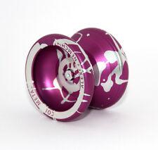 Profi Alu Yoyo Cold Metal CO2 v. AERO-YO, Aluminium Jojo mit Kugellager / Purple