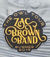 Zac Brown Band The Owl Tour 2019 matte sticker decal 4in
