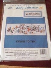 """Counted Cross Stitch Kit from JCA  Baby Collection ~ """" Count to Ten"""""""