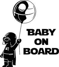 Baby On Board Darth Vader Vinyl Decal Sticker for Car/Window/Wall