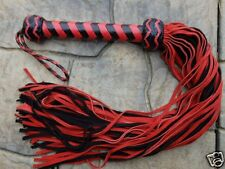 NEW RED 70 TAIL Leather Flogger Whip - AMAZING Horse Training Tool - Cat