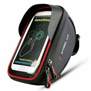 Motorcycle Bicycle Cell Phone/GPS Holder Case Bag Mount For Handlebar Waterproof