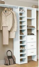 Shelf Organizer Shelves Storage White Stackable Clothes Closet Rack ClosetMaid