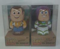 Disney Pixar Toy Story Woody and Buzz Lightyear Tin Wind-Up Bundle
