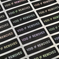 120 Pc Hologram VOID IF REMOVED Security Tamper Evident Warranty Label Stickers
