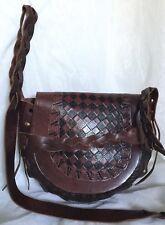 Handmade SPORTSGIRL Tan/Brown Leather Cross Body/Shoulder Bag / Handbag